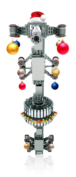 EXPLORER Robot with Christmas decorations